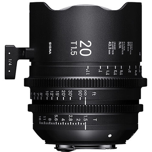 SIGMA CINE 20MM T/1.5 FF lens