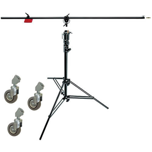 Manfrotto 085B Heavy Duty Boom w/ Rolling Stand