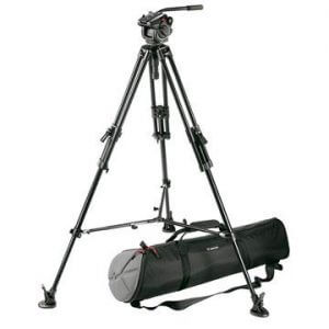 Manfrotto 501HDV Head w/ 525MVB Legs Tripod Kit