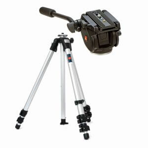 Manfrotto 701HDV Head w/ 055CL Legs Tripod Kit