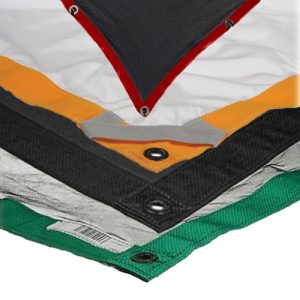Matthews 8′ x 8′ Fabrics – Black Solid Flag, White Silk Diffusion, Single Net, Double Net