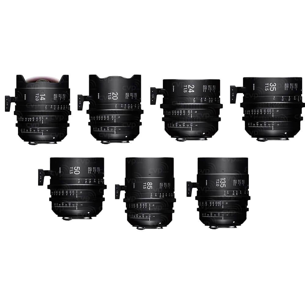 Sigma Cine Prime FF Kit (7 Lenses)
